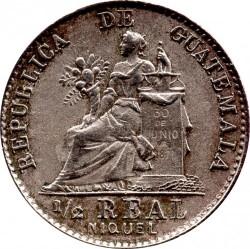 Moneda > ½real, 1900-1901 - Guatemala  - reverse