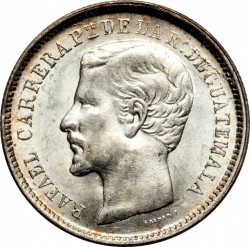 Moeda > 1real, 1861-1865 - Guatemala  - obverse