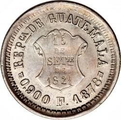 Moneda > 1real, 1872-1878 - Guatemala  - obverse