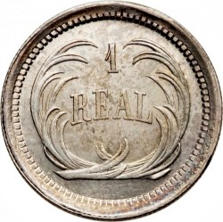 Moneda > 1real, 1872-1878 - Guatemala  - reverse