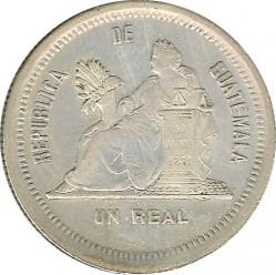 Moneda > 1real, 1879 - Guatemala  - reverse