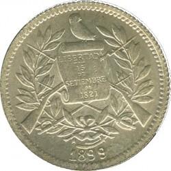 Кованица > 1реал, 1899 - Гватемала  (W/o fineness on obverse) - obverse