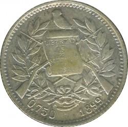 Moneda > 1real, 1899 - Guatemala  (Finesa 0.750 en l'anvers) - obverse