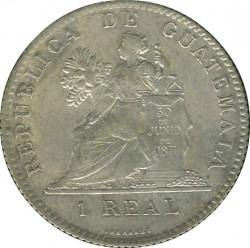 Moneda > 1real, 1899 - Guatemala  (Finesa 0.750 en l'anvers) - reverse