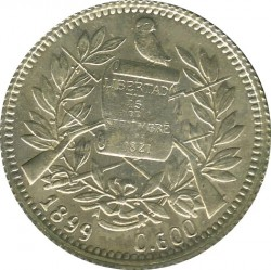 Moneta > 1real, 1899 - Guatemala  (Fineness 0.600 on obverse) - obverse
