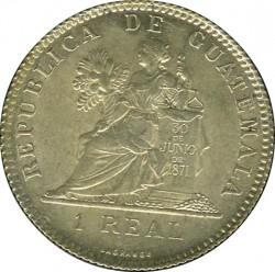 Moeda > 1real, 1899-1900 - Guatemala  - reverse