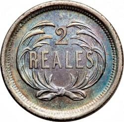 Moneda > 2reales, 1872-1873 - Guatemala  - reverse