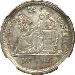 Moneda > 2reales, 1879 - Guatemala  - reverse