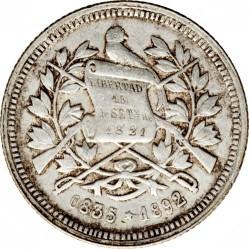 Moneda > 2reales, 1892 - Guatemala  - obverse