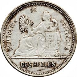Moneda > 2reales, 1892 - Guatemala  - reverse
