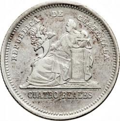 Moneta > 4reals, 1873-1893 - Guatemala  - reverse