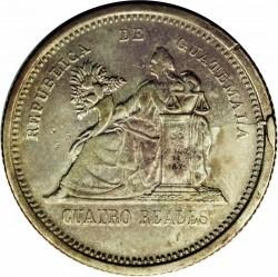 Монета > 4реала, 1892 - Гватемала  - reverse