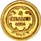 Moneta > 4reals, 1860-1864 - Guatemala  - reverse