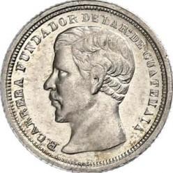 Монета > ½реала, 1867-1869 - Гватемала  - obverse
