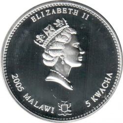 Moneta > 5kwacha, 2005 - Malawi  (Chiński zodiak - Rok świni) - obverse