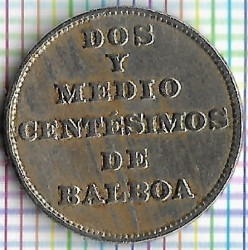 Mynt > 2½centésimos, 1929 - Panama  - obverse