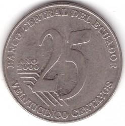 Moeda > 25centavos, 2000 - Equador  - reverse