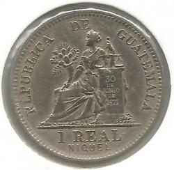 Munt > 1real, 1900-1912 - Guatemala  - reverse
