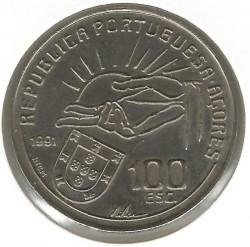 Монета > 100ескудо, 1991 - Азорски острови  (100th Anniversary - Death of Antero de Quental) - obverse