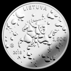Moneta > 1½ euro, 2018 - Lituania  (Traditional Lithuanian Celebrations - Joninės (Rasos)) - obverse