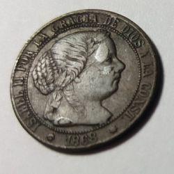 Coin > ½céntimo, 1866-1868 - Spain  - obverse