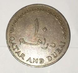 Moeda > 10dirham, 1966 - Qatar e Dubai  - reverse