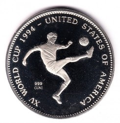 Moneda > 2000 kwacha, 1994 - Zambia  (1994 FIFA World Cup /one soccer player/) - obverse