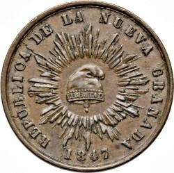 Coin > ½decimo, 1847-1848 - Colombia  - obverse