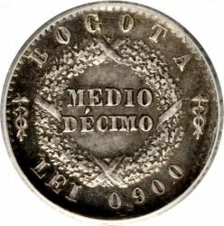 Moneda > ½décimo, 1859-1861 - Colòmbia  - reverse