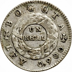 Monedă > 1real, 1847 - Columbia  - reverse