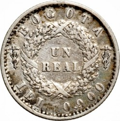Moneda > 1real, 1851 - Colombia  - reverse