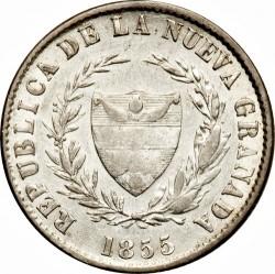 Moneda > 2décimos, 1853-1858 - Colòmbia  - obverse