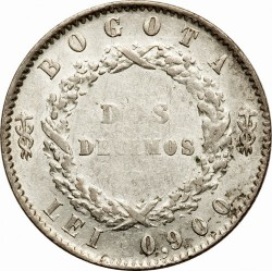 Moneda > 2décimos, 1853-1858 - Colòmbia  - reverse