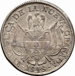 سکه > 10رئال, 1847-1849 - کلمبیا  - obverse
