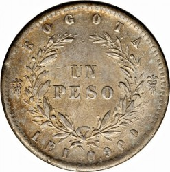 Monedă > 1peso, 1855-1859 - Columbia  - reverse