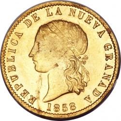 錢幣 > 10披索, 1857-1858 - 哥倫比亞  - obverse