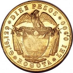 錢幣 > 10披索, 1857-1858 - 哥倫比亞  - reverse