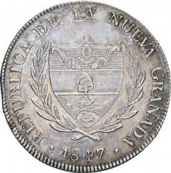 Coin > 8 reals, 1847 - Colombia  - obverse