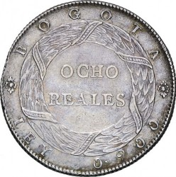 Coin > 8 reals, 1847 - Colombia  - reverse