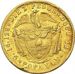 Moneda > 10pesos, 1858-1862 - Colòmbia  - reverse