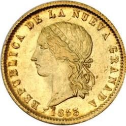 سکه > 10پزو, 1853-1857 - کلمبیا  - obverse