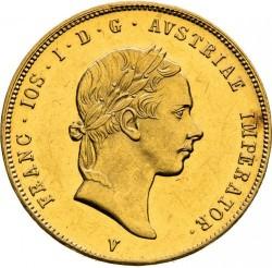 Монета > 1соврано, 1853-1856 - Ломбардо-Венеційське  - obverse
