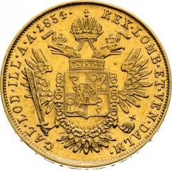 Монета > ½соврано, 1854-1856 - Ломбардо-Венеційське  - reverse