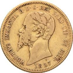 Монета > 10лири, 1850-1860 - Сардиния  - obverse