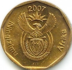 Coin > 20 cents, 2007 - South Africa  - obverse