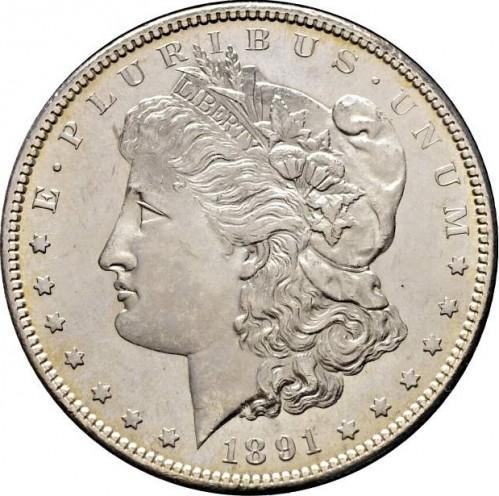 1 Dollar 1891 Morgan Dollar Usa Münzen Wert Ucoinnet