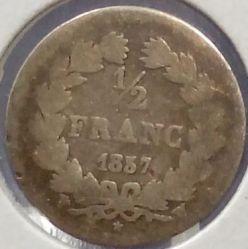 Moneta > ½franco, 1831-1845 - Francia  - obverse