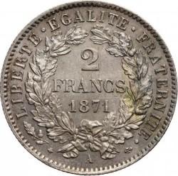سکه > 2فرانک, 1870-1895 - فرانسه  - reverse