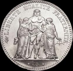 Moneda > 5francos, 1870-1878 - Francia  (Hércules) - obverse