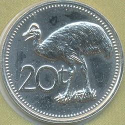 Mynt > 20toea, 1979 - Papua Ny-Guinea  - reverse